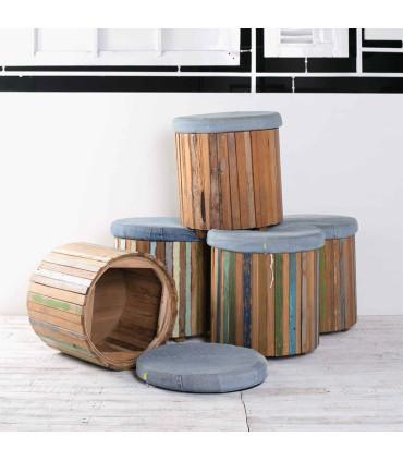 Home Solutions 丹寧鼓型圓凳