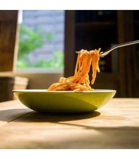 天然手工竹製餐盤(M) - 有底腳