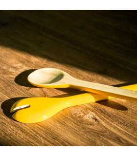 天然手工竹製沙拉叉勺組