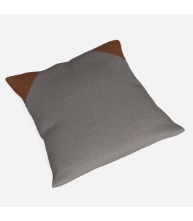 皮革拼接抱枕