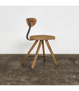Theo煙燻橡木皮革座椅 (棕色)