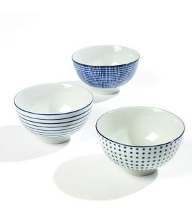 Feeling手繪藍白釉彩中式餐碗