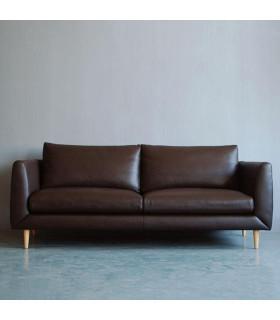 BLEU 進口三人皮沙發