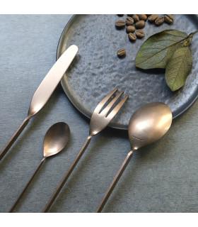 MALMÖ餐具4件組-做舊黃銅色