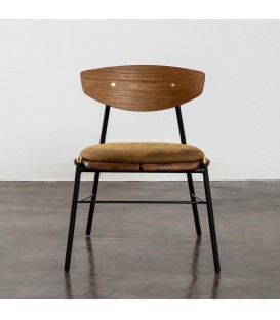 Kink 煙燻橡木皮革餐椅 (棕色)
