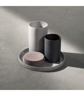 Cylindrical 陶瓷置物盤(麻灰)