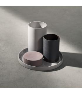 Cylindrical 陶瓷置物盒(裸棕)