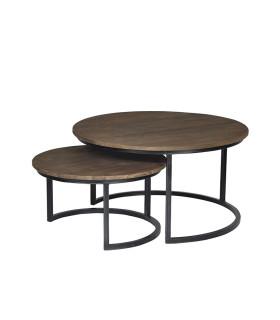 Fendy 圓形母子咖啡桌 - 大