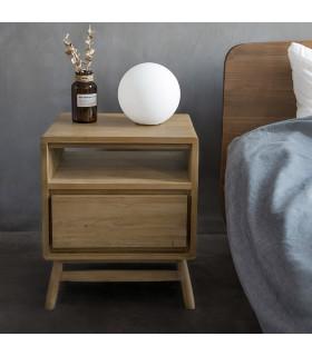 Twist 斯堪地雅趣抽屜式床頭櫃 - 歐洲白橡木