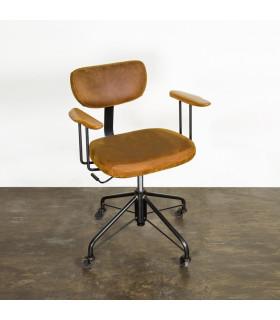 Rand皮革辦公椅(棕色皮革款)