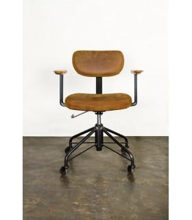 Rand 皮革辦公椅(棕色皮革款)