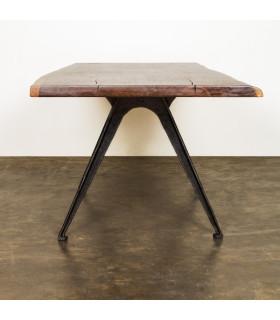 York煙燻橡木鑄鐵餐桌/工作桌