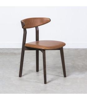 Boma 焦燻橡木皮革座椅