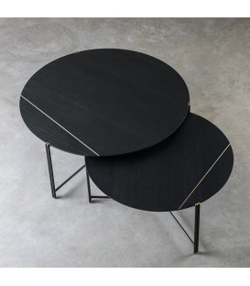 Trio 黑檀色橡木子母咖啡桌