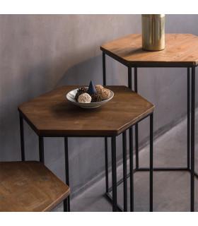 Home Solutions六角邊桌三件組