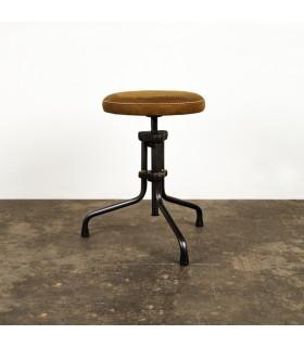 Buck皮革旋轉凳(棕色)