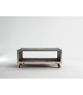 Roadie鋁鎂合金包邊滑輪咖啡桌
