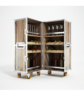 Roadie鋁鎂合金包邊滑輪行動酒櫃