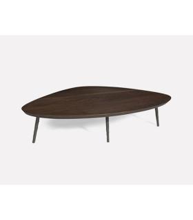 Pebble 黑色幾何咖啡桌