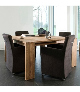Fissure 二抽屜方形餐桌/工作桌