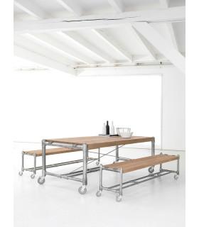Kasting 水管滑輪餐桌/工作桌