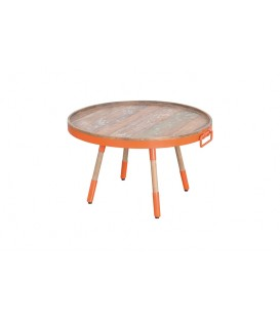 Home Solutions 橘色圓咖啡桌