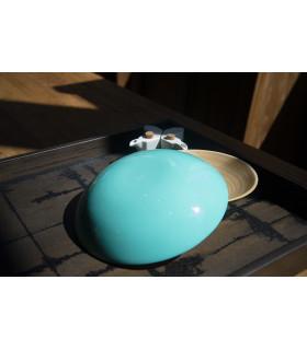天然手工竹製餐盤 (L) - 無底腳