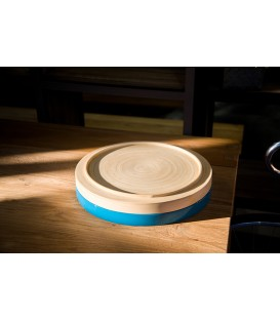 天然手工竹製圓形托盤