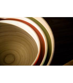 天然手工竹製餐碗(L)