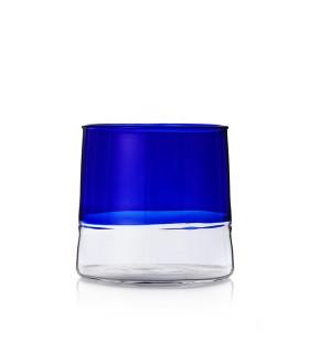 LIGHT多彩酒杯-寶藍色/透明