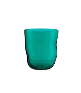 Twisted不規則玻璃杯-松石綠