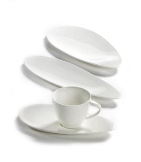 Drops 高耐熱白瓷長型平盤-大
