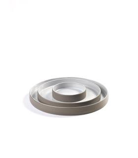 Dusk 手感拉坯餐瓷系列-弧型款小圓盤