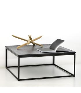 Thin 黑色橡木不鏽鋼支架咖啡桌