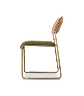 Hewey 軍綠帆布皮革餐椅