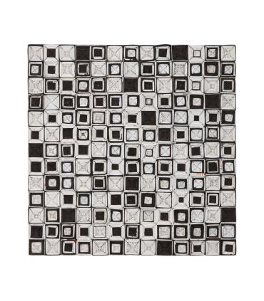 Home Solutions 雜誌編織掛飾 - 黑白幾何方錐編織