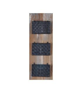 Home Solutions 壁式車胎編織三格置物架