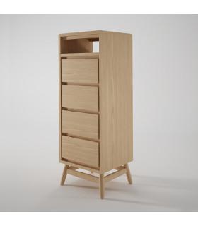 Twist 斯堪地雅趣四抽屜收納斗櫃 - 歐洲白橡木