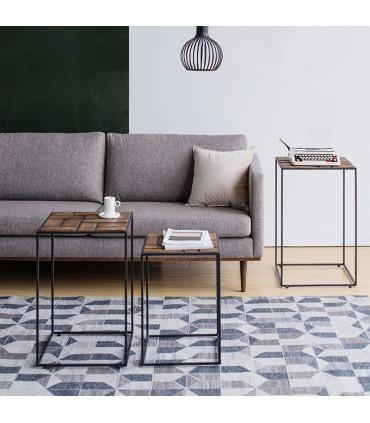Mondrian 風格派幾何邊桌三件組