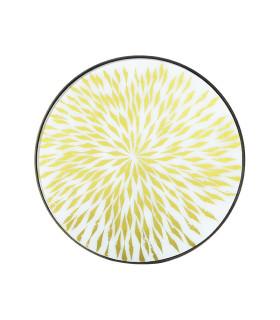金色光芒玻璃托盤