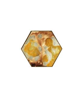 低奢琥珀金屬六角托盤 - 小