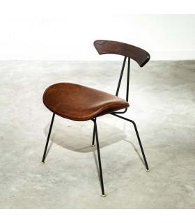 Lamb 焦燻橡木皮革座椅