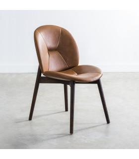 Pacha 焦燻橡木皮革座椅