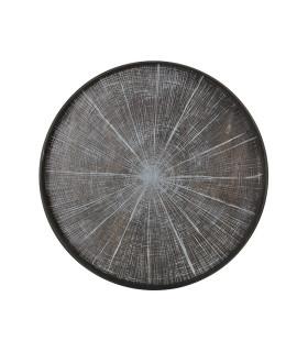 樺白年輪漂流木托盤