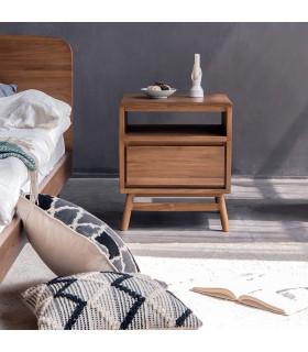 Twist 斯堪地雅趣抽屜式床頭櫃 - FSC老柚木