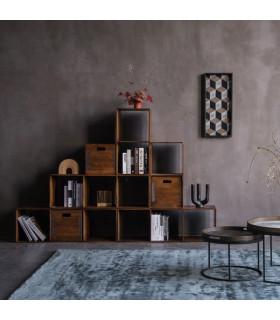 Home Solutions 金屬鉚邊深置物木箱