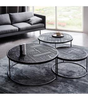 Ancestors Tabwa 圖騰浮雕子母咖啡桌三件組