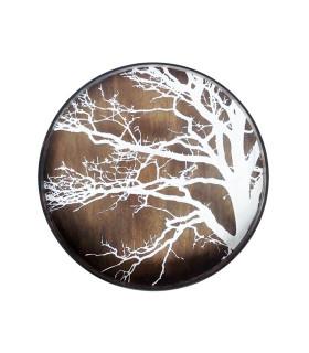樺白樹影漂流木托盤