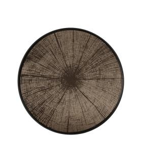古銅年輪鏡面托盤