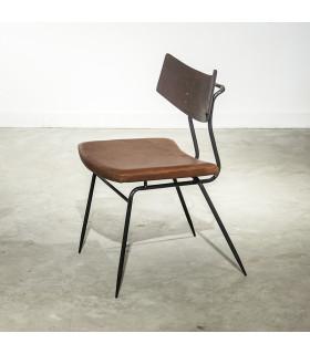 Soli 焦燻橡木皮革座椅